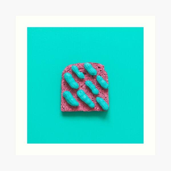Pink bread with peanuts Art Print
