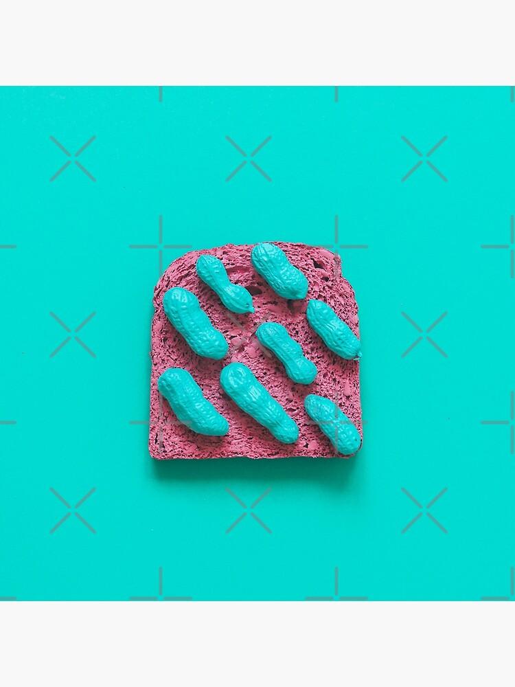Pink bread with peanuts by KatyaHavok