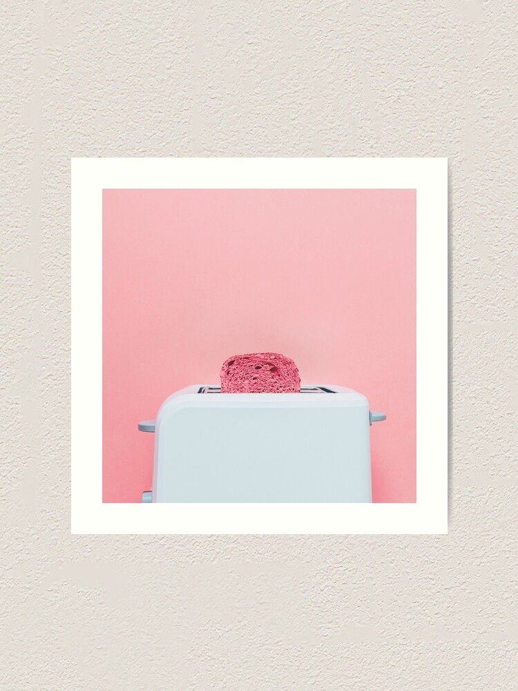 Alternate view of Pink toast in toaster Art Print