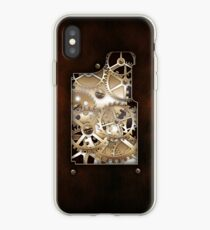 Walnut and Brass Steampunk cover. iPhone Case