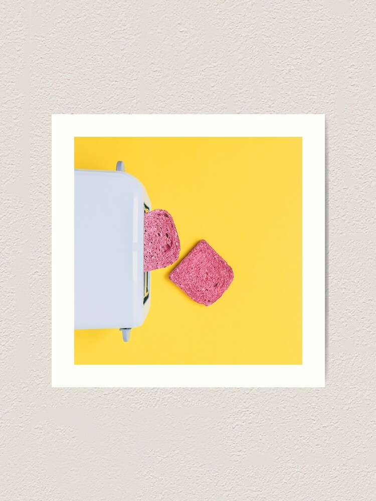 Alternate view of Pink toasts fall from toaster Art Print