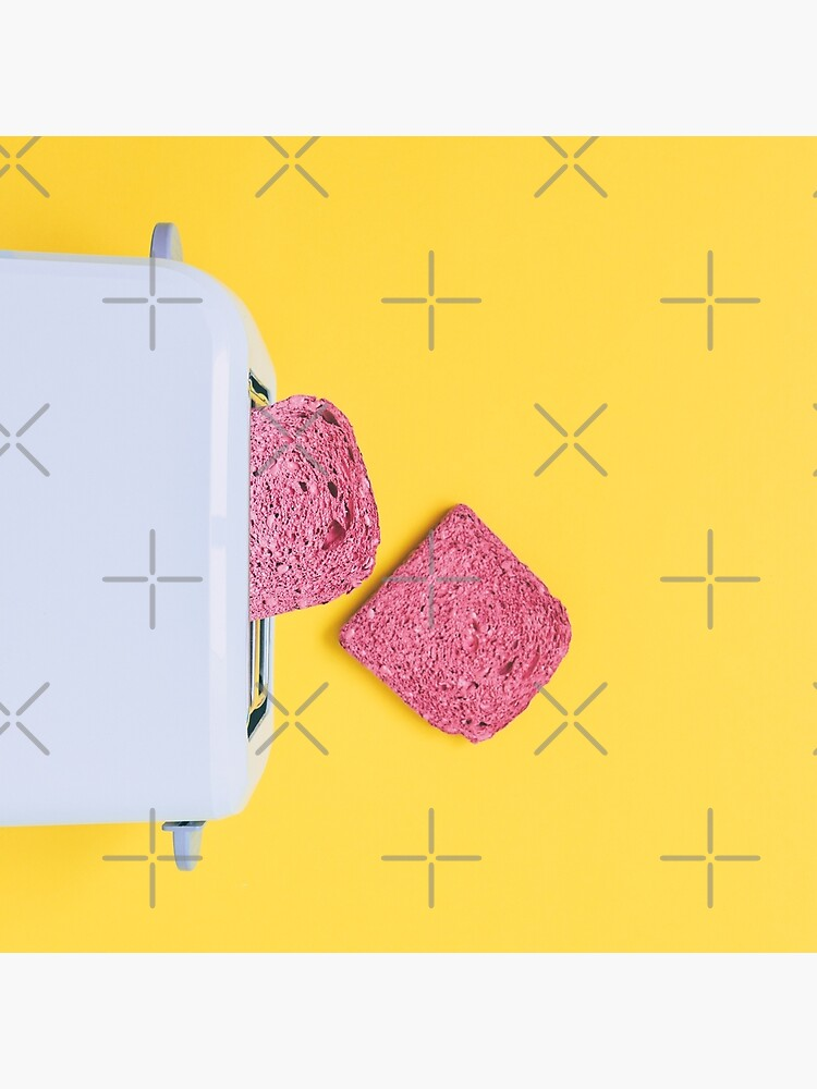 Pink toasts fall from toaster by KatyaHavok