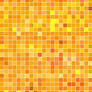 Orange Mosaic [iPhone / iPad / iPod Case] by Didi Bingham