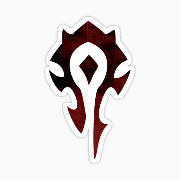 Horde Dark Shades Logo (transparent) Sticker