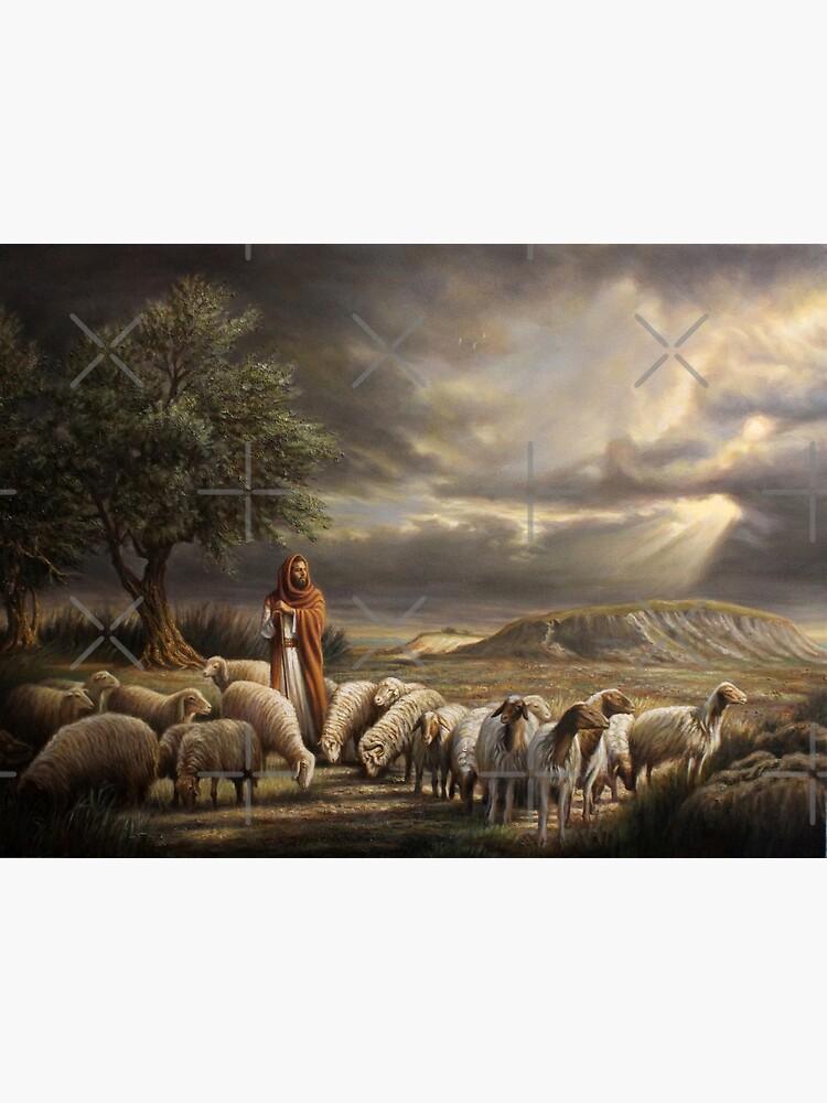 Shepherd with Flock by Esalazar
