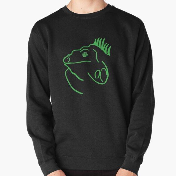 Green Iguana Pullover Sweatshirt