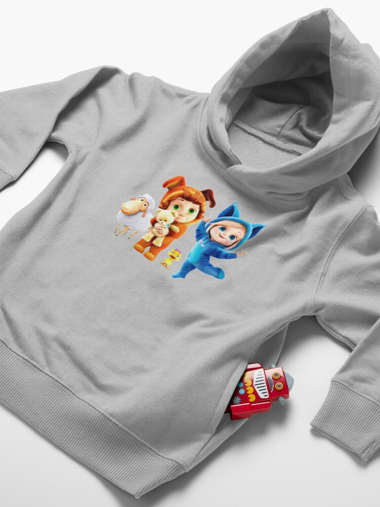 Alternate view of Ava and Dave happy birthday Toddler Pullover Hoodie