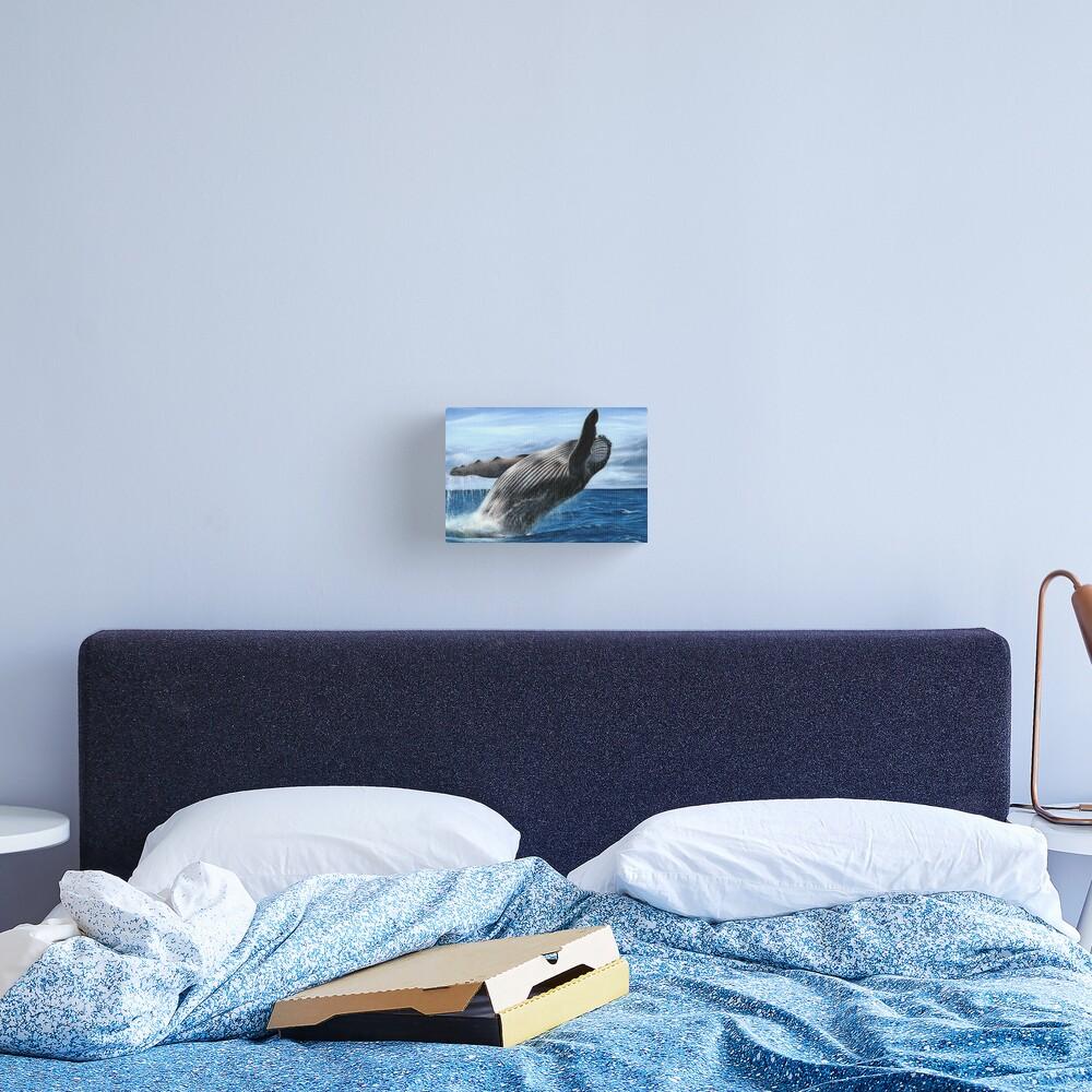 Humpback Whale Artwork Canvas Print