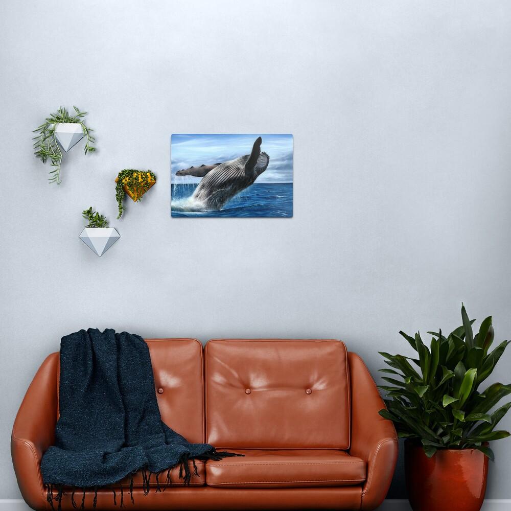 Humpback Whale Artwork Metal Print