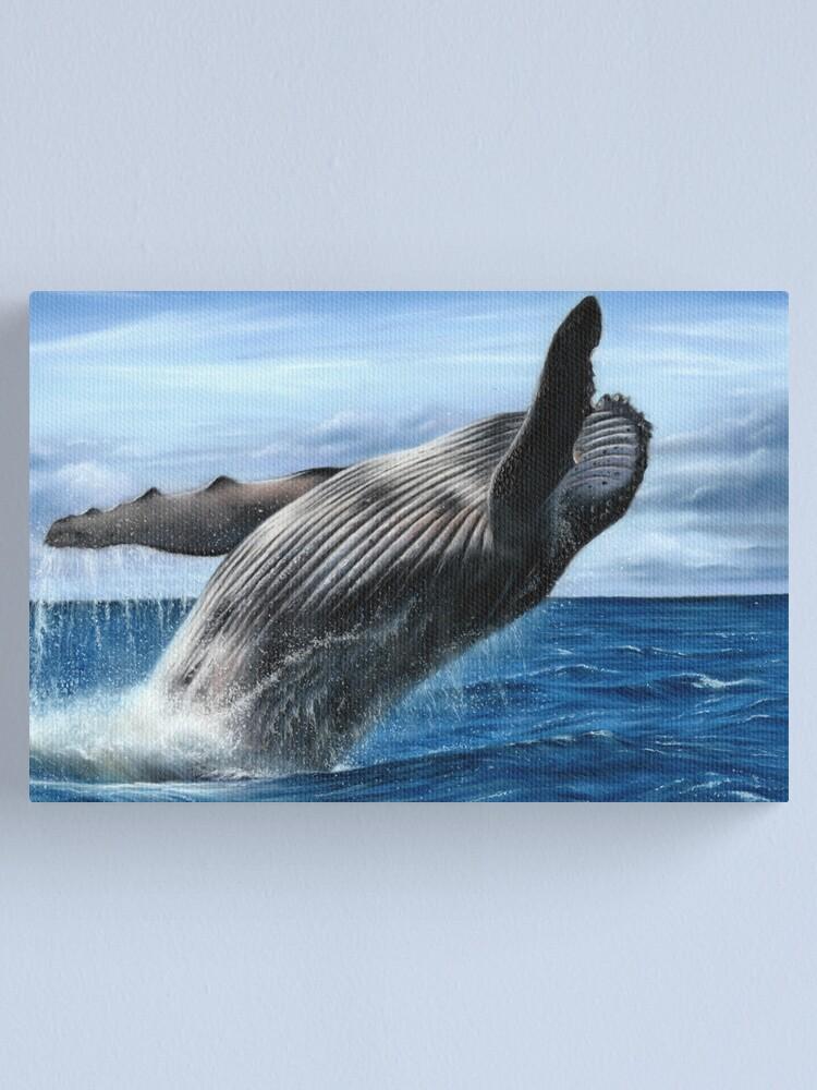 Alternate view of Humpback Whale Artwork Canvas Print