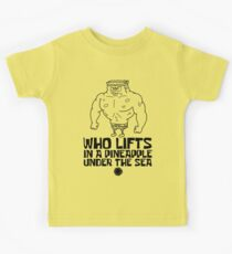 Spongebob - Who Lifts [Black] || Gym Gear Kids Tee