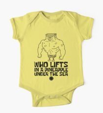 Spongebob - Who Lifts [Black] || Gym Ausrüstung Baby Body Kurzarm