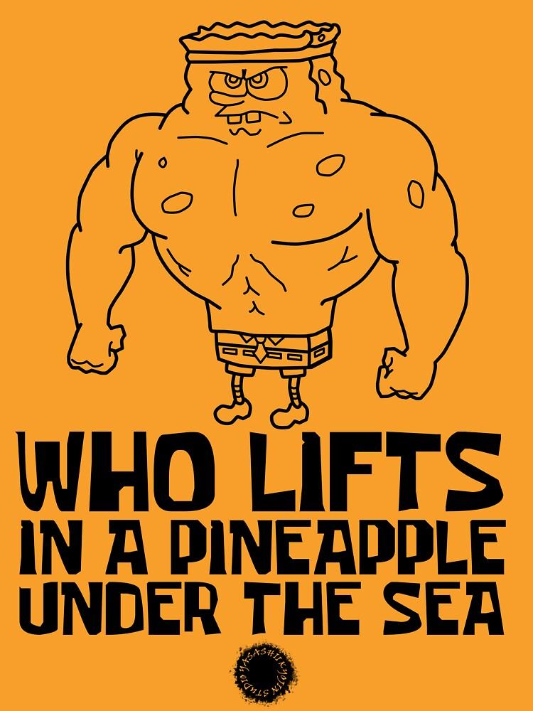 Spongebob - Who Lifts [Black] || Gym Gear by yasashiikyojin
