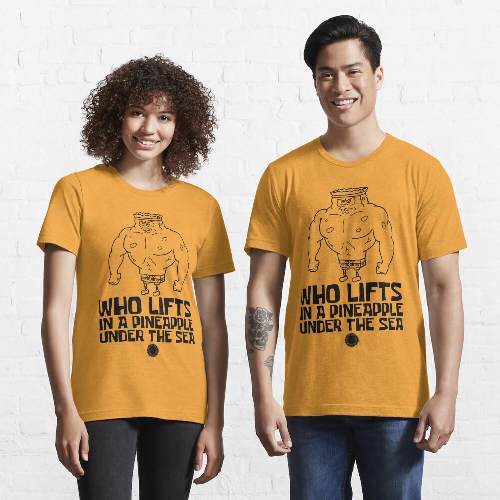 Spongebob - Who Lifts [Black] || Gym Gear Essential T-Shirt