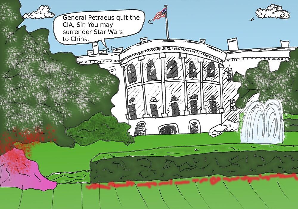 General Petraeus scandal cartoon by Binary-Options