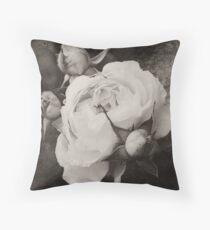 Mother and Babies Sepia Throw Pillow