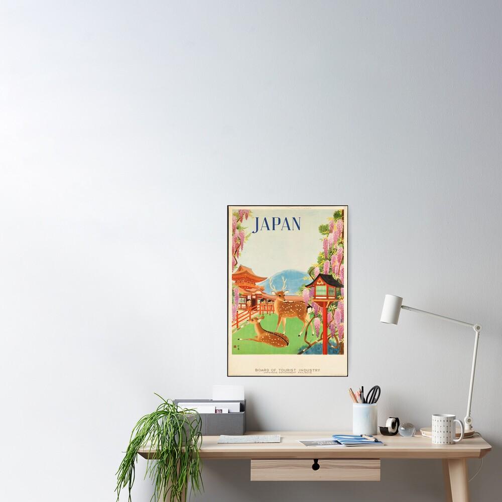 Cartel de viaje vintage: Japón Póster