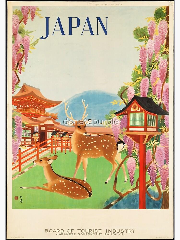 Cartel de viaje vintage: Japón de donatepurple