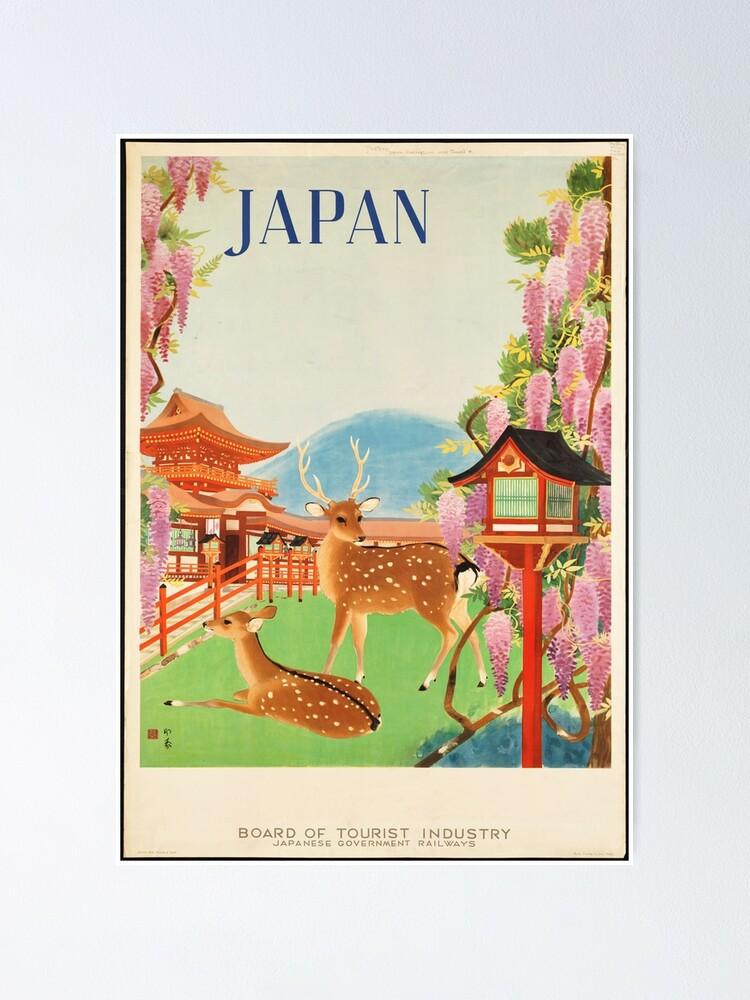 Vista alternativa de Póster Cartel de viaje vintage: Japón