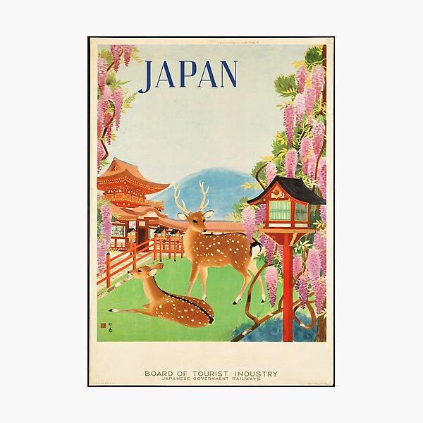 Vintage Travel Poster: Japan Photographic Print