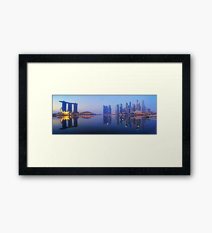50 Shades Of Blue Framed Print