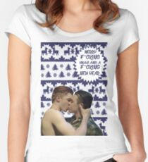 Merry F*cking Christmas [[Gallavich]] Women's Fitted Scoop T-Shirt