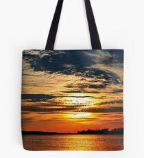 Colorful River Sunset Tote Bag