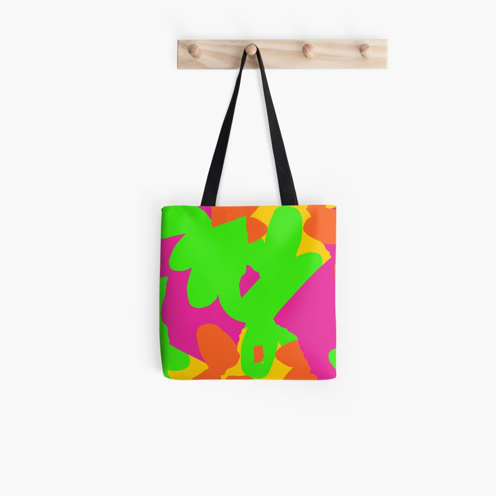 Sprouse inspired day glow print Tote Bag