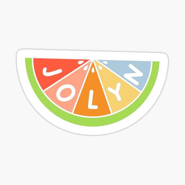 Jolyn orange / watermelon slice sticker Sticker