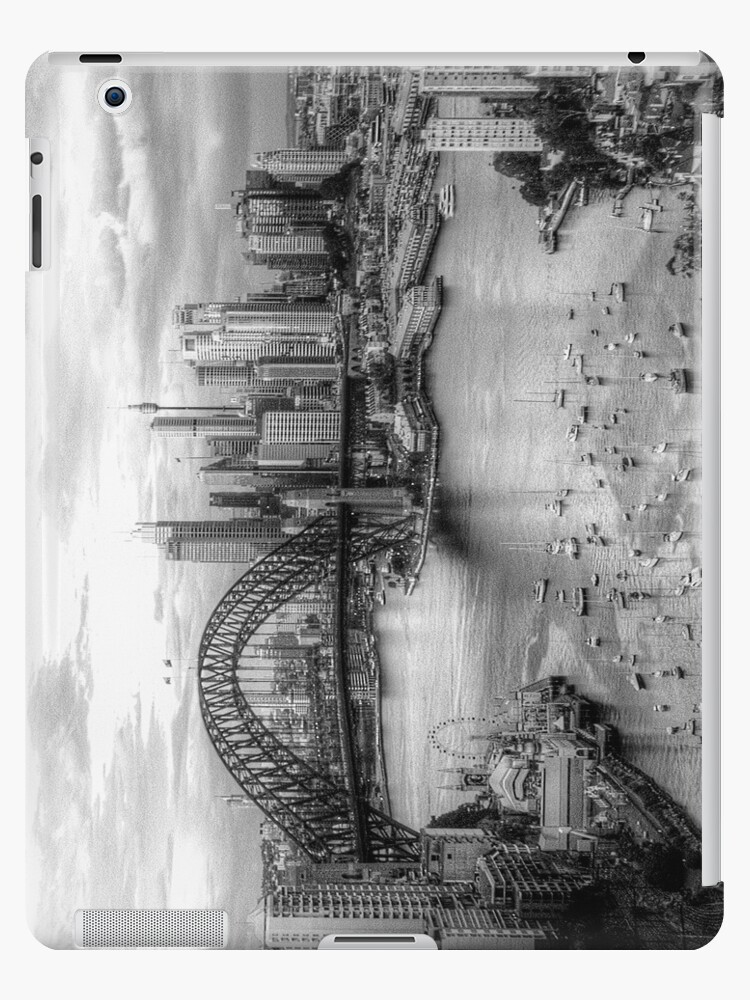 Monochrome Dreams (IPAD CASE)- Sydney Australia - The HDR Experience by Philip Johnson