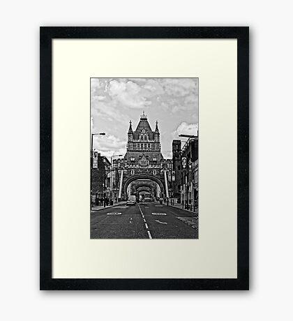 Looking at The Tower Bridge - London Framed Print