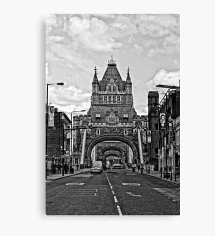 Looking at The Tower Bridge - London Canvas Print