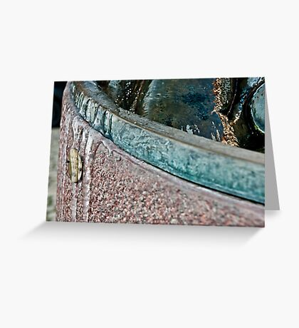 Frozen Bath Water Greeting Card