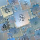 Snowflake collage with real snowflake macro photos by Alexey Kljatov