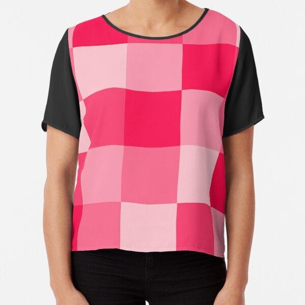 Checkered Pink Chiffon Top