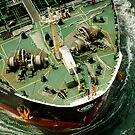 Seagulls View of a Tanker by Mick Kupresanin