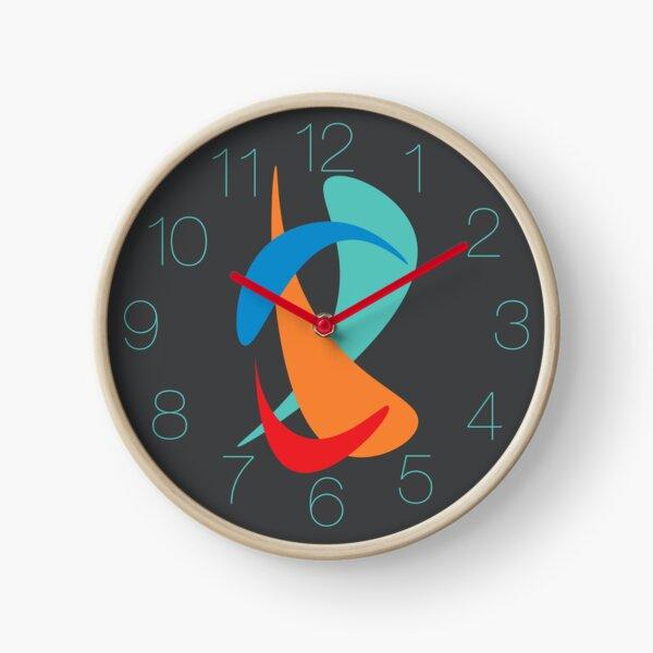 Rhythm (on Grey) Clock