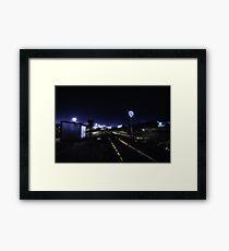 Dark Tracks Framed Print