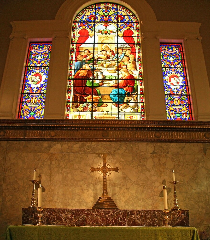 Stained Glass In Saint John's by Cora Wandel