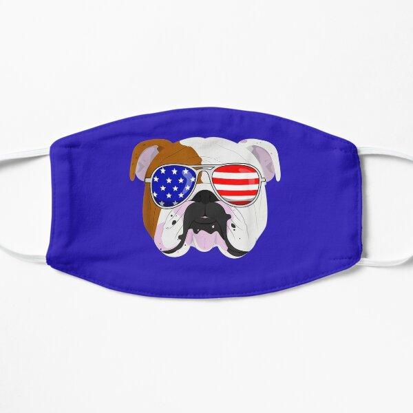 English Bulldog Dog Patriotic USA 4th Of July Flat Mask