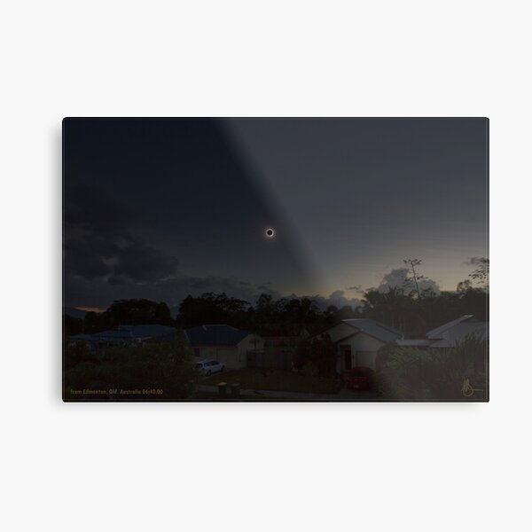 Cairns Total Solar Eclipse 14-11-2012 Metal Print