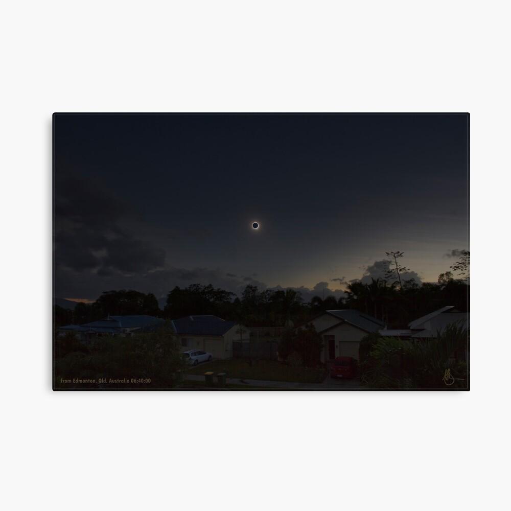 Cairns Total Solar Eclipse 14-11-2012 Canvas Print