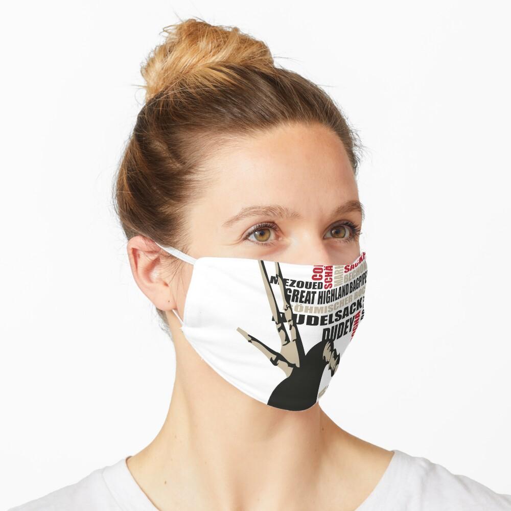 Sackpfeifen Textwolke Mask