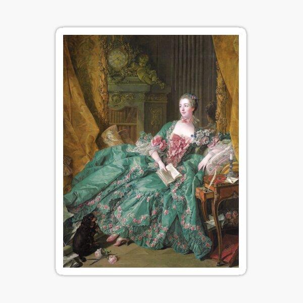 Portrait of Madame de Pompadour (1756) - François Boucher Sticker