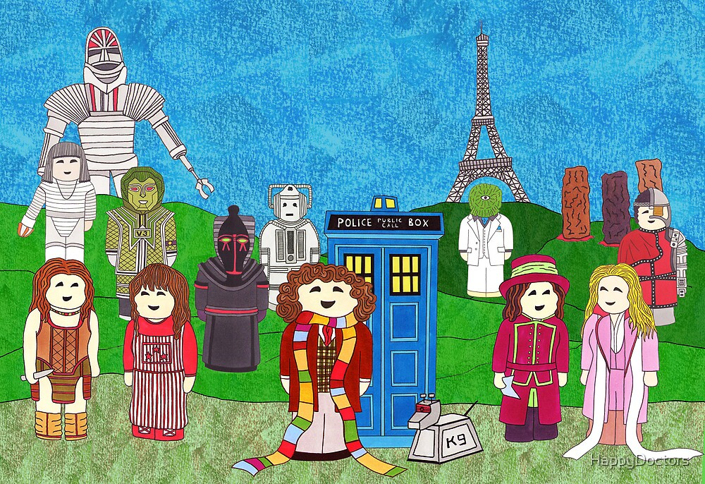 4th Doctor and his companions by HappyDoctors