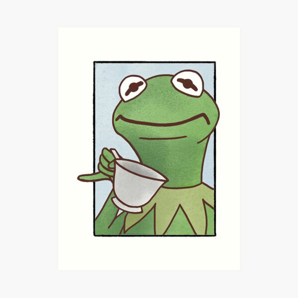 Disappointed Kermit the Frog Art Print
