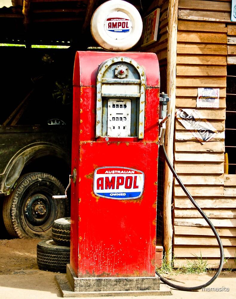 Australian Ampol Gas Tank, Old by mamasita