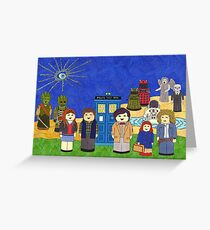 11th Doctor and his companions Greeting Card