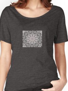 Sheet Music Abstract Mandala Kaleidoscope Women's Relaxed Fit T-Shirt