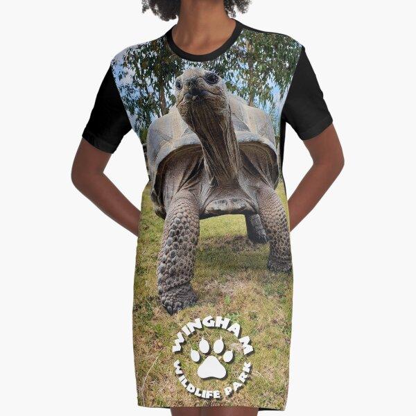 Ted the Ticklish Tortoise Graphic T-Shirt Dress